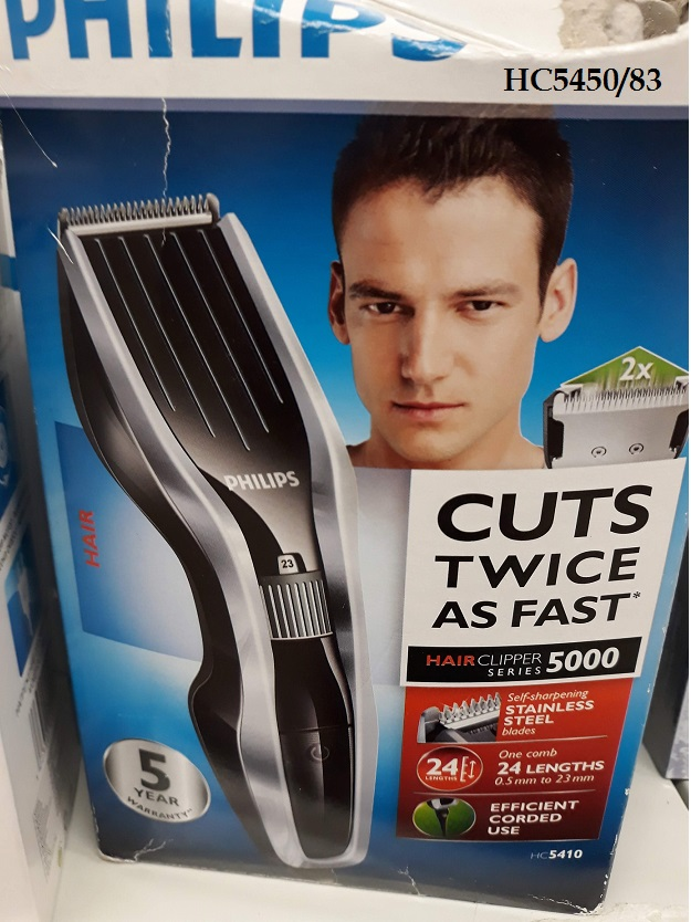 Philips HC5450/83 hair clipper 5000 series  - cuts twice as fast