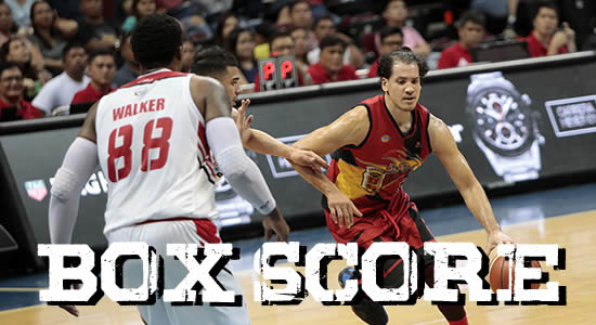Box Score List: San Miguel vs Blackwater Elite 2018 PBA Governors' Cup