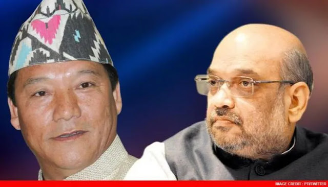 "Amit Shah described Gorkha Janmukti Morcha leader Bimal Gurung as a ""leader fighting for the Gorkha cause"""