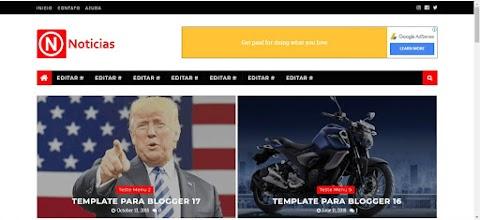 Template Blogger Gratis Noticias Responsivo