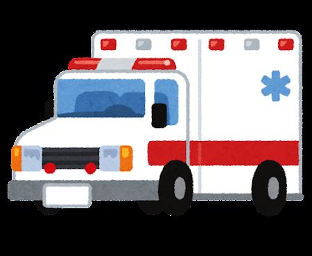 アメリカの救急車のイラスト