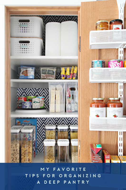 0 My Favorite Tips for Organizing a Deep Pantry
