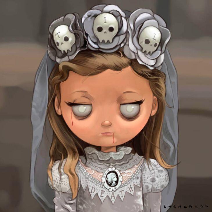 Nocturnal Devil - Nice Illustrations - Bride