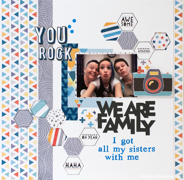 Scrapbooking Layout: We are family