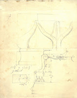 initial sketch of small detail for monument pedestal base