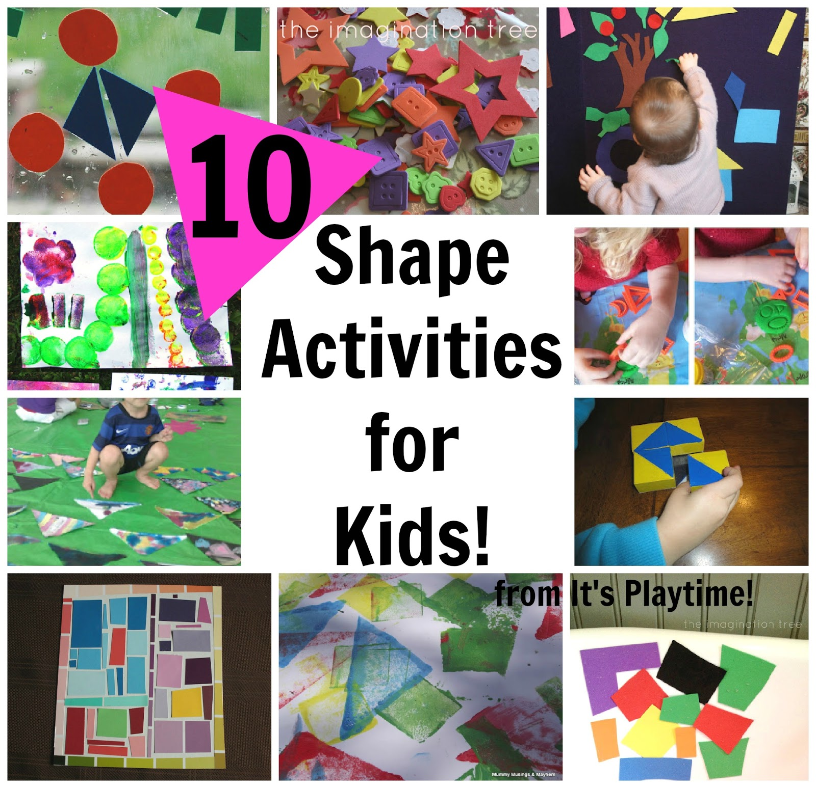 10 Shape Learning Activities For Kids It S Playtime The