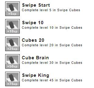 Swipe Cubes Achievements