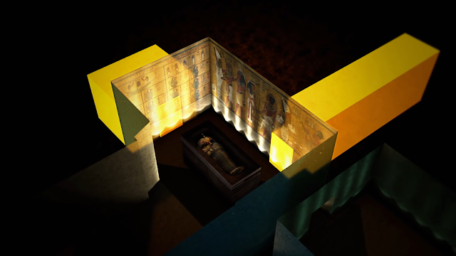 two hidden passages to connected directly to King Tut's burial chamber