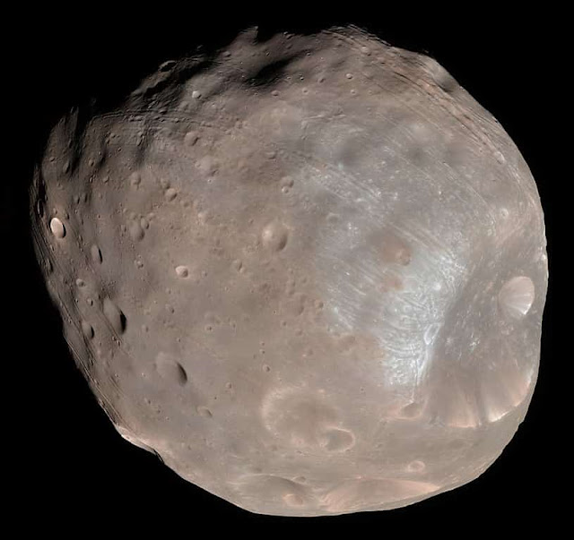 Phobos - imaged by the Mars Reconnaissance Orbiter on 23 March 2008