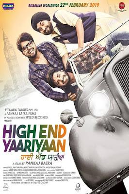 Watch Online High End Yaariyan 2019 Punjabi Movie Download WEBRip 800Mb 720p Bolly4ufree.in