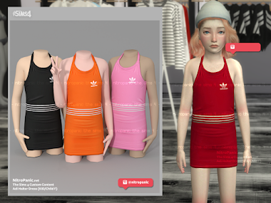 Adi Halter Dress (KID/CHILD F) for The Sims 4