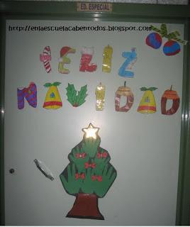 En la escuela caben tod s letras feliz navidad para for Ambientacion para navidad