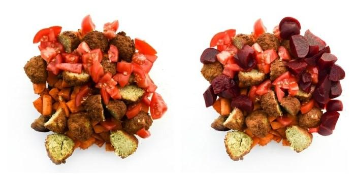 Sweet Potato Couscous - Step 3 - chopped veg