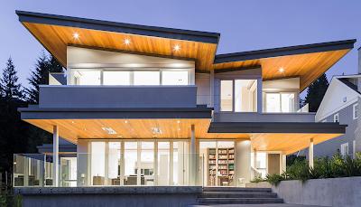 Model atap rumah minimalis kupu-kupu keren dan mewah