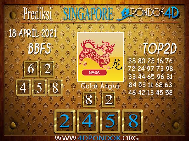 Prediksi Togel SINGAPORE PONDOK4D 18 APRIL 2021