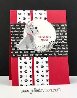 Stampin' Up! Playful Pets Dog Card ~ 2020-2021 Annual Catalog ~ www.juliedavison.com #stampinup