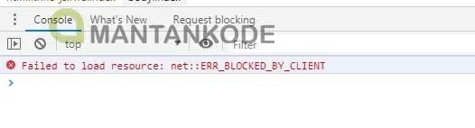 contoh blokir file oleh klien - Kekurangan Memasang File Eksternal di Blog - mantankode