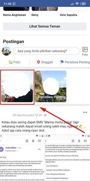 cara menyembunyikan album foto di Facebook