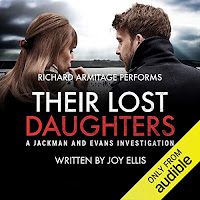 Their Lost Daughters audiobook cover. A man and woman with their backs to the viewer.