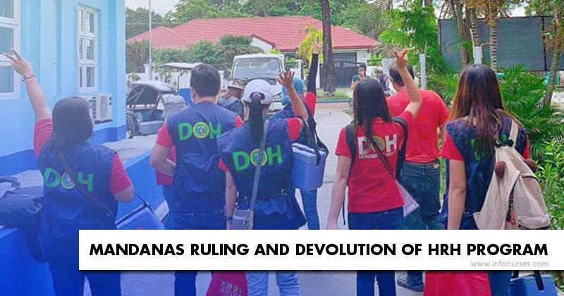 Devolution of HRH Program in Mandanas Ruling