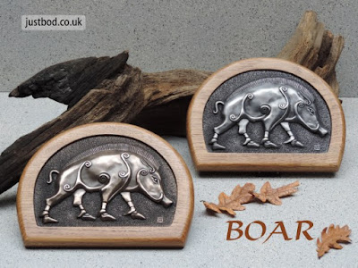 Pictish Boar Wall Plaque: in Bronze or Silver