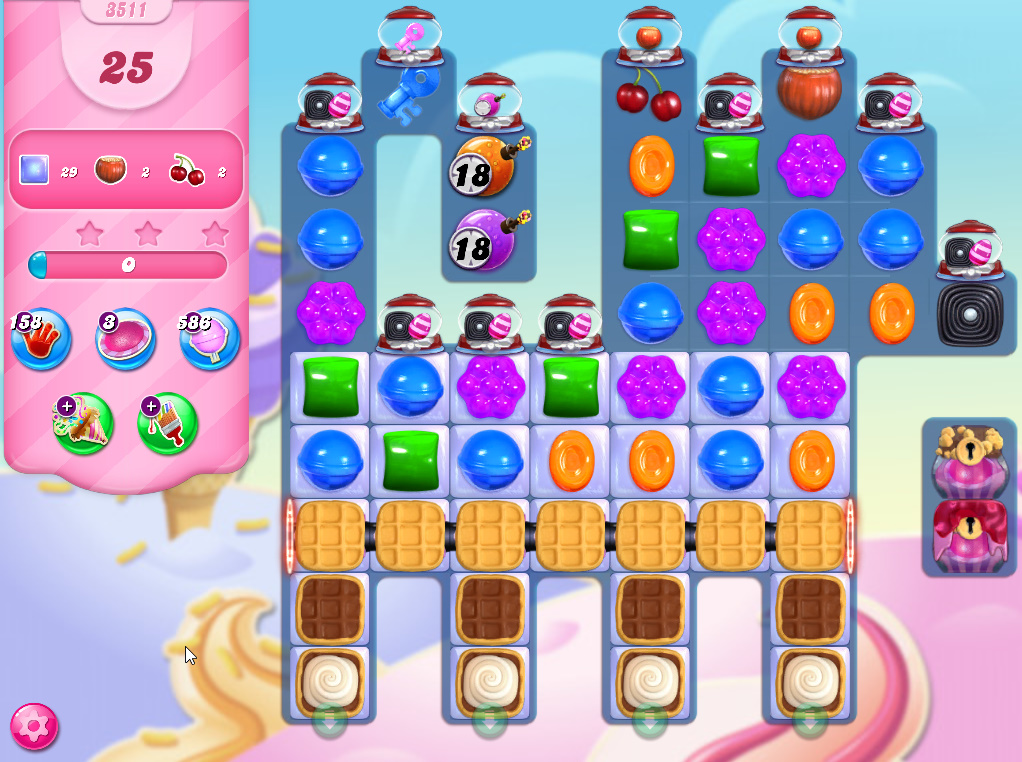 Candy Crush Saga level 3511