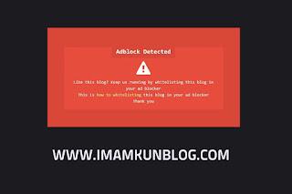 Cara Membuat Notifikasi AdBlock Seperti Arlina Design Responsive