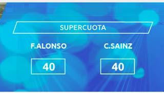 Mondobets supercuota F1 ALONSO o Sainz 28-3-2021