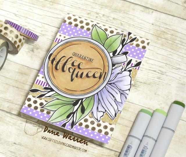 Dana Warren - Kraft Paper Stamps - Graciellie Designs - Coffee