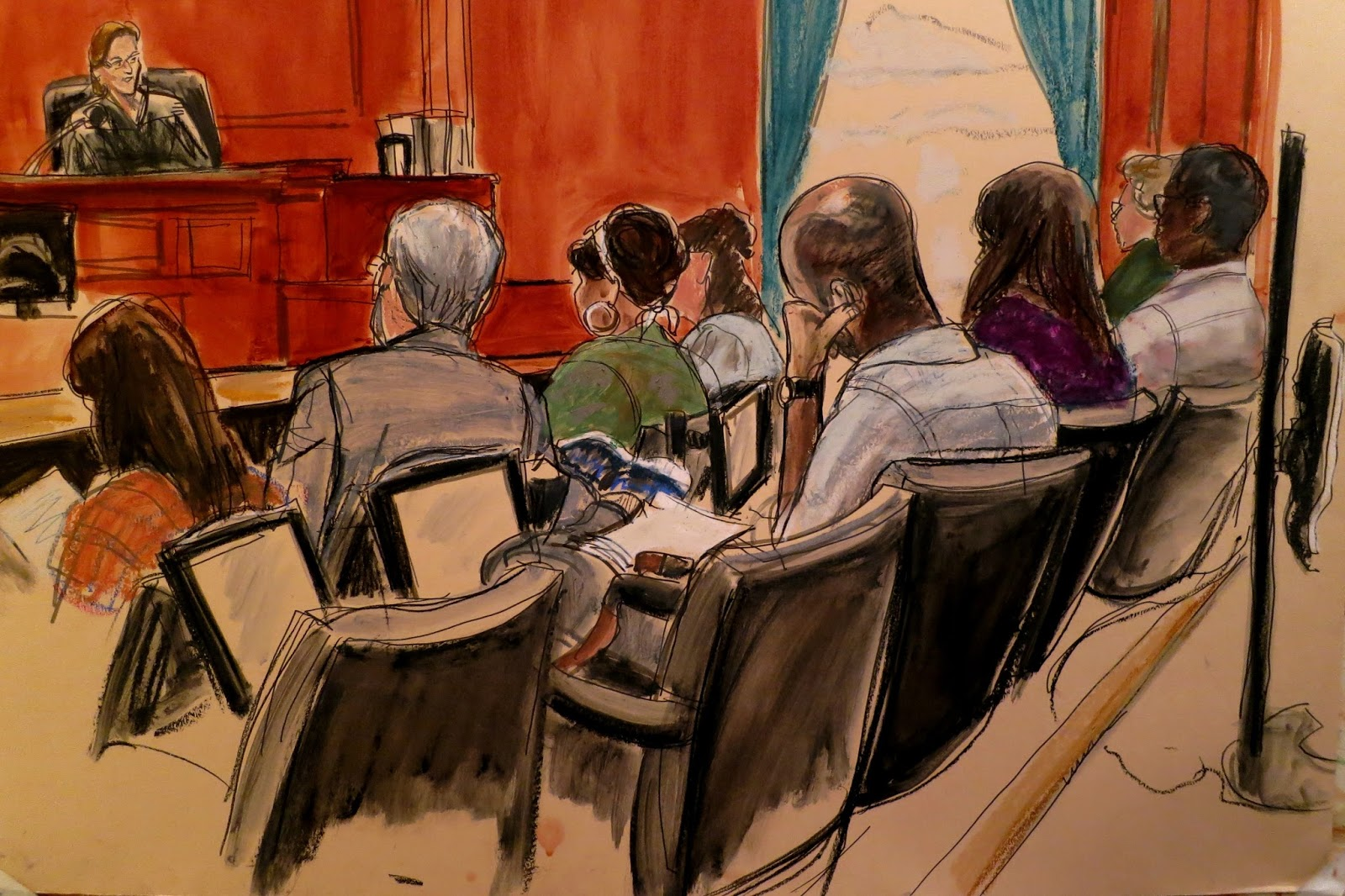 """ILLUSTRATED COURTROOM: THE """"FABULOUS FAB"""" JURY"""