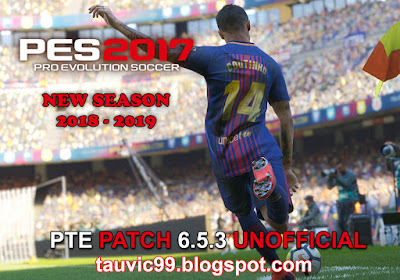 PES 2017 PTE Patch 2017 Unofficial 6.5.3