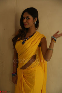 Nishigandha in Yellow backless Strapless Choli and Half Saree Spicy Pics 116.JPG
