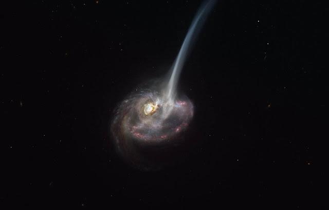 Ilustração artística da galáxia ID2299