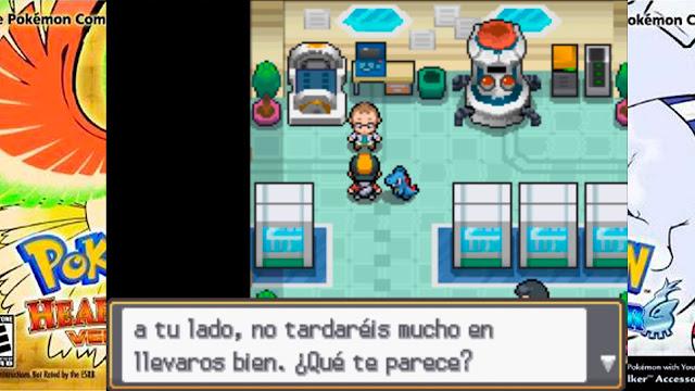 Totodile fuera de la Pokebal Eco Profesor Elm Pokémon Oro HeartGold y Plata SoulsSilver