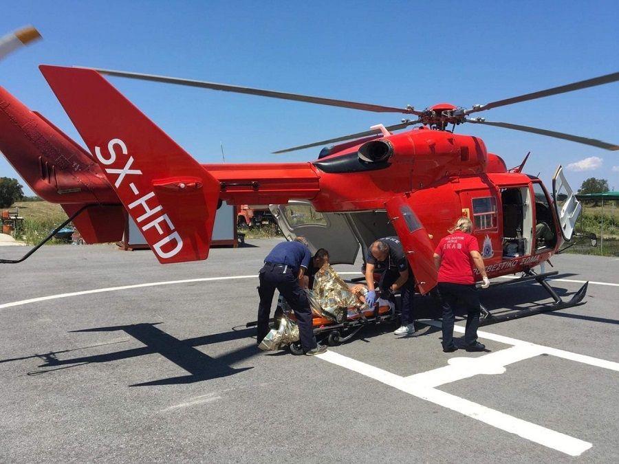 Αεροδιακομιδή 47χρονου από τη Χαλκιδική σε νοσοκομείο της Θεσσαλονίκης
