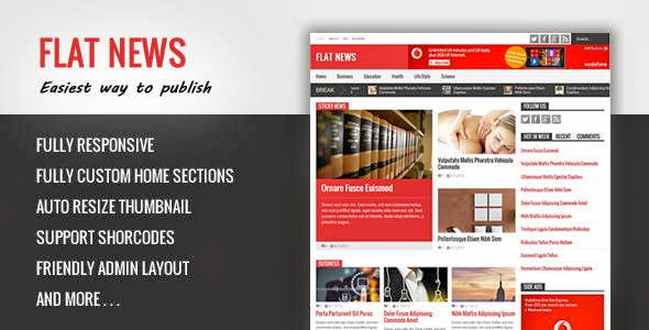 Flat News Responsive Magazine Blogger Template
