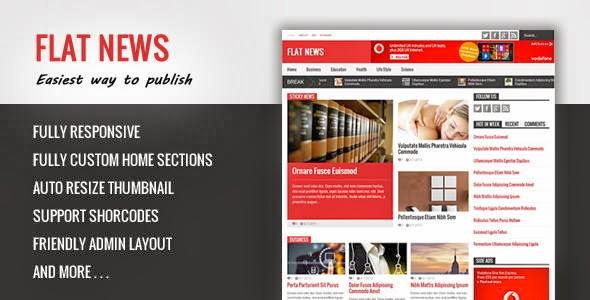 Flat News Responsive Magazine Blogger Template