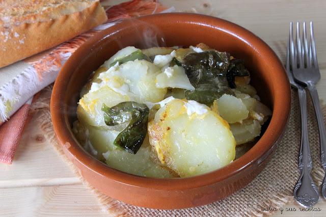 Patatas a lo pobre o al pelotón. Julia y sus recetas
