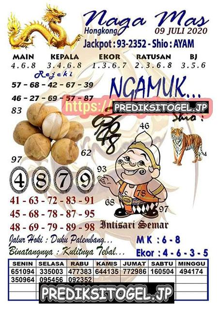 Syair Nagamas HK Kamis 09 Juli 2020