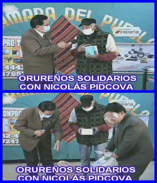Orureños solidarios con Nicolas Pidcova