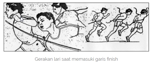 Lari Jarak Pendek: fase finish