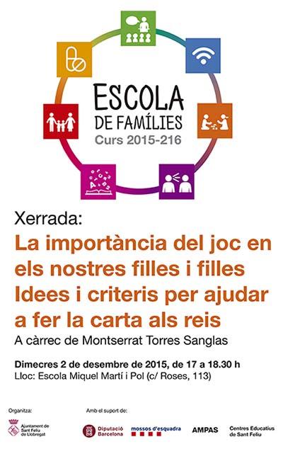 Xerrada joguines - Escola de Famílies 2015-2016 Sant Feliu de Llobregat