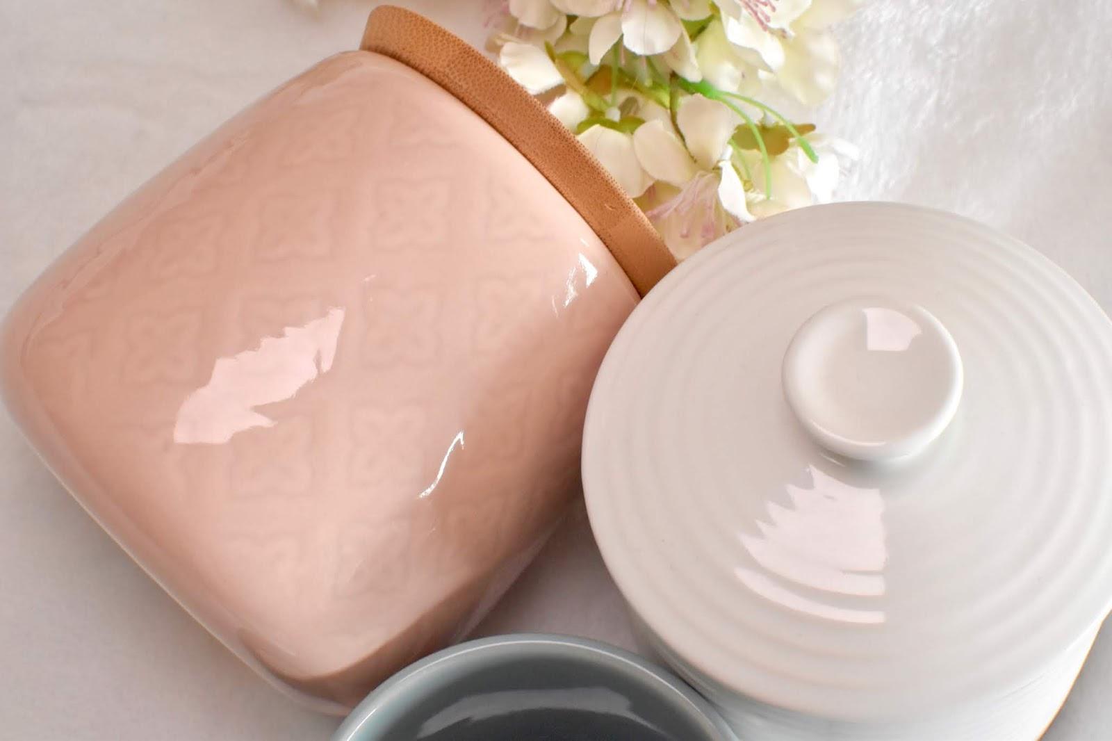 Pink and white mug from TK Maxx