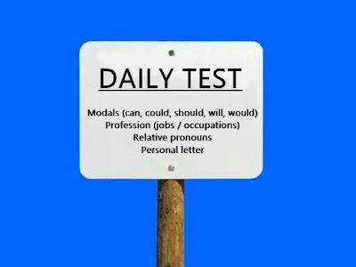 Soal Ulangan Modals, Jobs, Relative Pronouns dan Letter