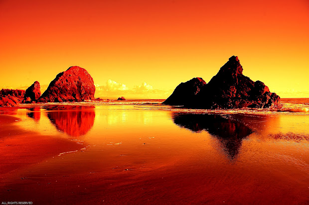 Beautiful Beach Sunset Landscape