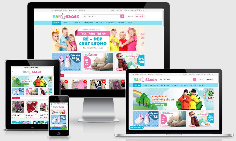 Theme wordpress thời trang trẻ em - code wordpress bán hàng đẹp