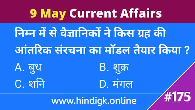 9 May 2021 Current Affairs In Hind