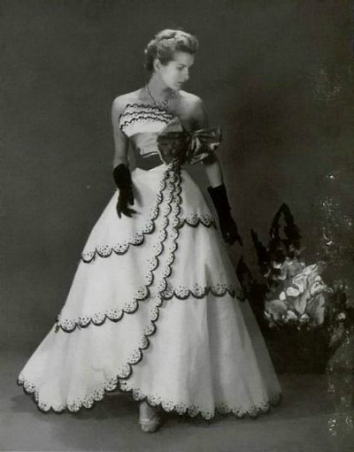 Jean Patou 1953 Evening Gown