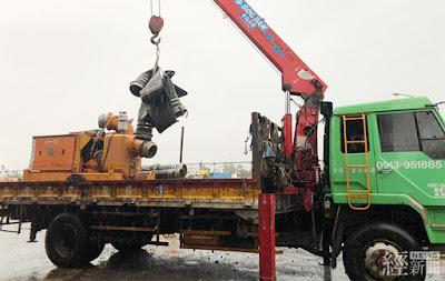 中南部豪雨,水利署緊急調度抽水機救災