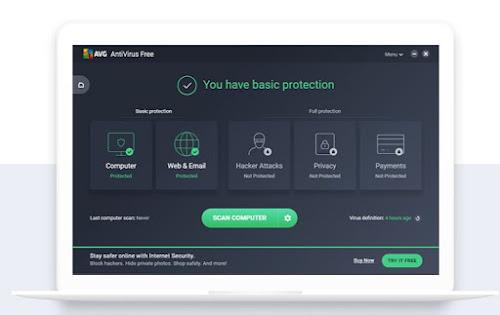 AVG Antivirus free terbaru